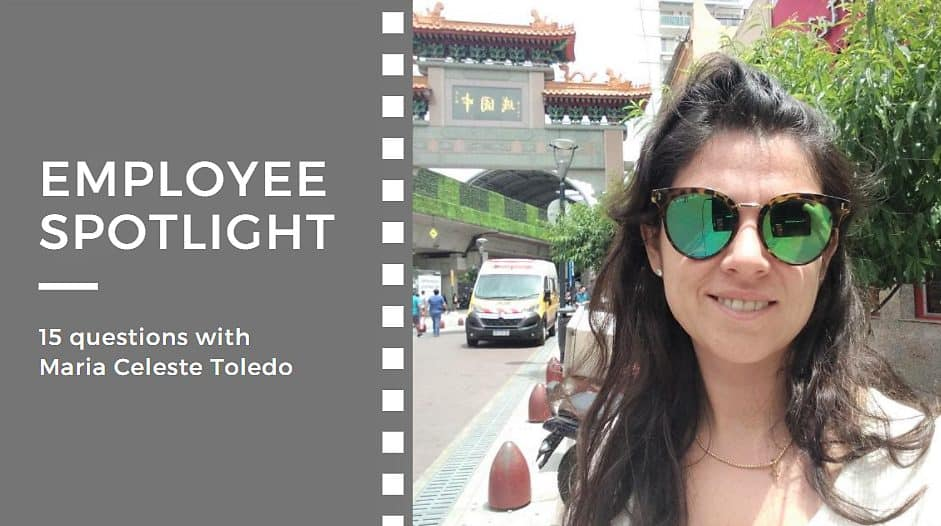 Employee spotlight:<br>15 questions with Maria Celeste Toledo
