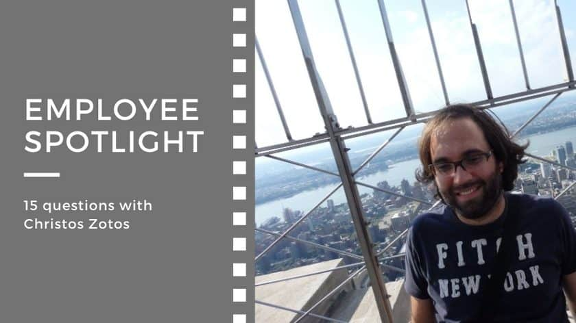 Employee spotlight:<br>15 questions with Christos Zotos
