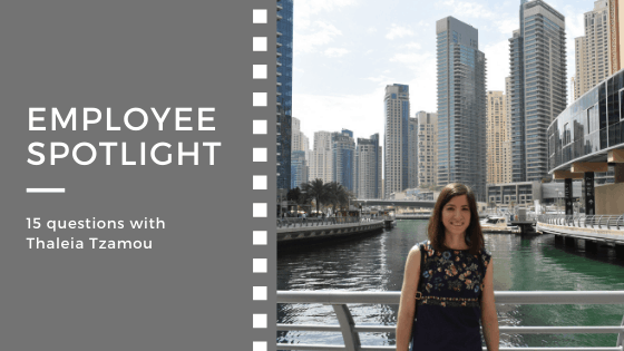 Employee spotlight:<br>15 questions with Thaleia Tzamou